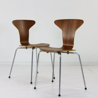2 x Mosquito 3105 dining chair by Arne Jacobsen for Fritz Hansen, 1950s