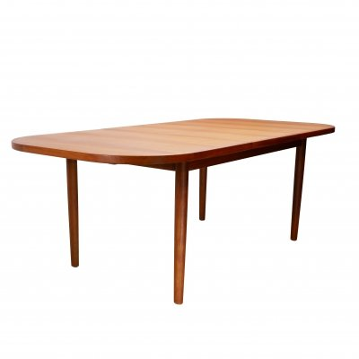 Diethelm Scanstyle teak dining table with butterfly leaf extension