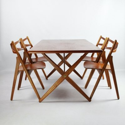 Dining set by Hans J Wegner for Andreas Tuck & Carl Hansen & Son, Denmark