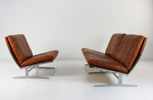 BO-562 / BO-561 seating group by Preben Fabricius & Jørgen Kastholm, 1963