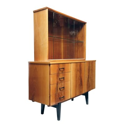 Dresser in walnut veneer by Working Cooperative 'Carpenter', Poland 1970s