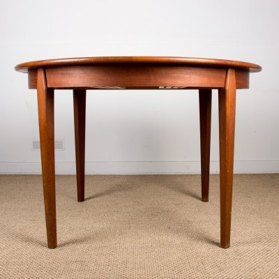 Extendable teak Danish Dining table by Willy Sigh, 1960s