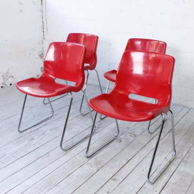 Set of 4 'Overman' Chairs by Svante Schöblom for IKEA, 1970s