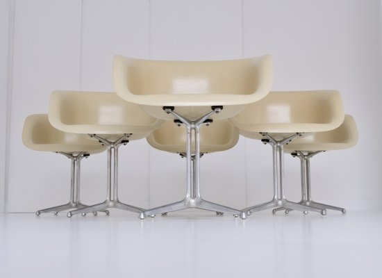 Set of 6 La Fonda (DAL model 1730-01) armchairs by Charles & Ray Eames for Herman Miller, 1960s