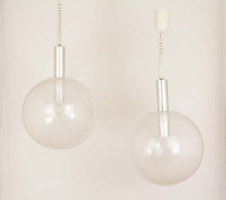 Pair of Sfera pendants by Afra & Tobia Scarpa for Flos, 1960s