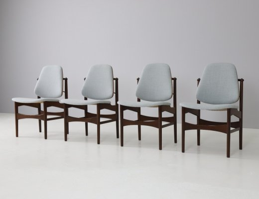 Rare 'Jutex' dining chairs by Louis van Teeffelen for Wébé, 1960s