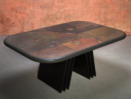 Vintage Mid Century Fedam Brutalist Coffee Table, 70s