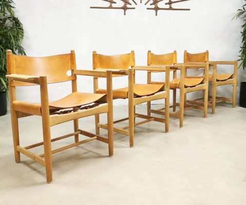 Set of 4 'model 3238' dining chairs by Børge Mogensen, 1950s