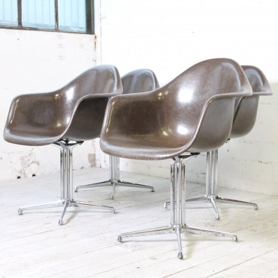 Set of 4 Armchairs (with La Fonda Base) by Charles & Ray Eames for Herman Miller, 1960s