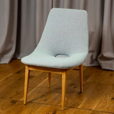 Rare labeled Shell lounge chair by Hanna Lachert, 1950s