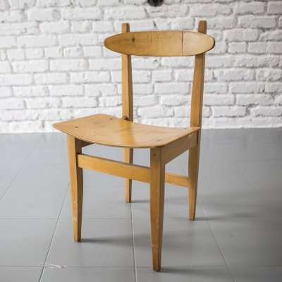 Bent plywood Carpentry chair type 200-102 by Maria Chomentowska, 1960s