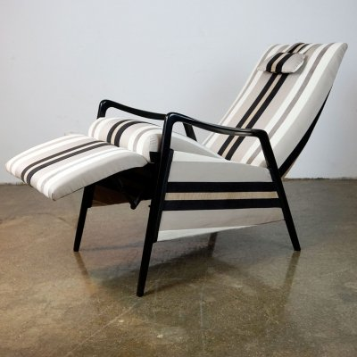 Midcentury Reclining Lounge Chair, 1950s
