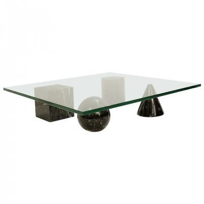 Massimo & Lella Vignelli 'Metaphora' Coffee Table In Black Marble