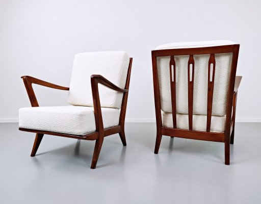 Pair of Armchairs Model 516 by Gio Ponti for Cassina, 1950s