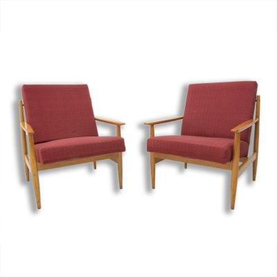 Pair of mid century Scandinavian style armchairs by TON, 1970s