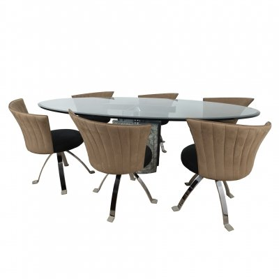 Dining set by Giorgio Saporiti for Il Loft