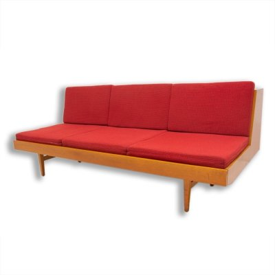 Mid century folding sofabed, Czechoslovakia 1960s