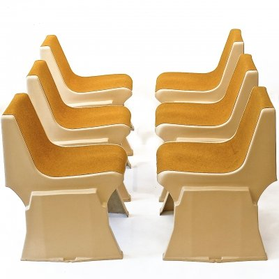 Set of 6 fiberglass Pop Art chairs by Günther Domenig, Austria 70s