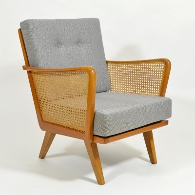 1970s Armchair with rattan strings