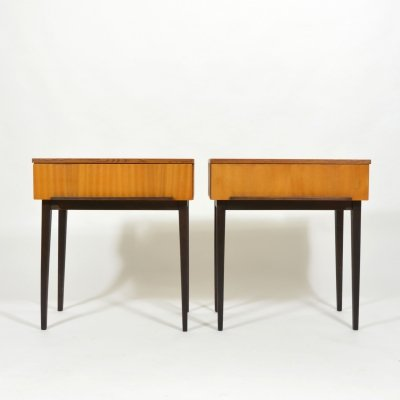 Set of bedside tables by ÚP Závody, 1970s