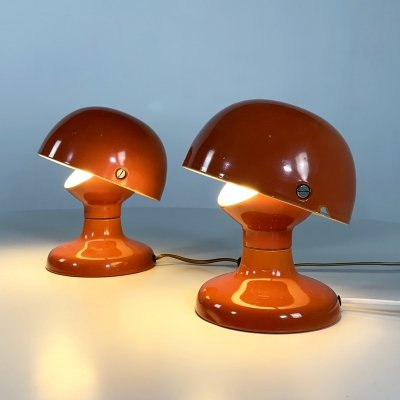 Pair of Coral Jucker 147 Table Lamps by Tobia & Afra Scarpa for Flos, 1960s