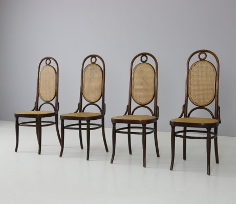 No. 17 'Long John' dining chairs by Thonet, 1960s