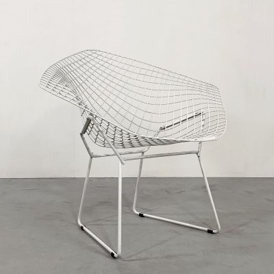 White Diamond Chair by Harry Bertoia for Knoll, 1970s
