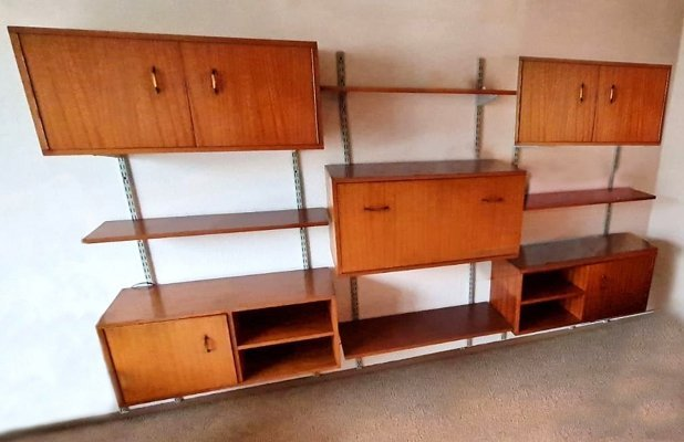 Vintage Mid Century Wall Unit / Shelving System, 1970s