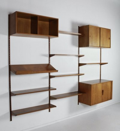 Vintage design wall unit by Kai Kristiansen for Feldballes Møbelfabrik