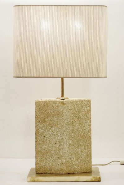 Large French Stone Table Lamp, 1960s