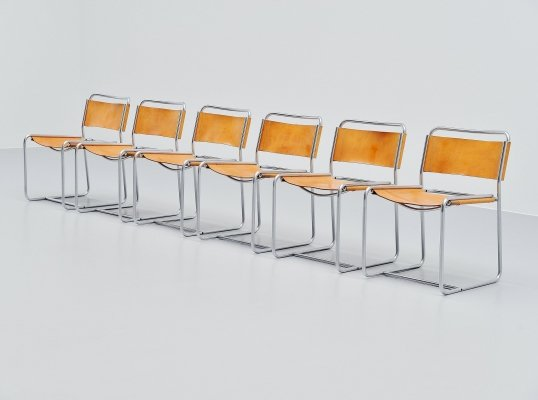 Set of 6 Claire Bataille & Paul Ibens SE18 chairs by 't Spectrum, 1971