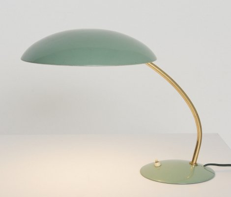 Vintage Mint Green Table Lamp, 1950's