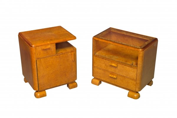 Pair of 1920's Bedside tables