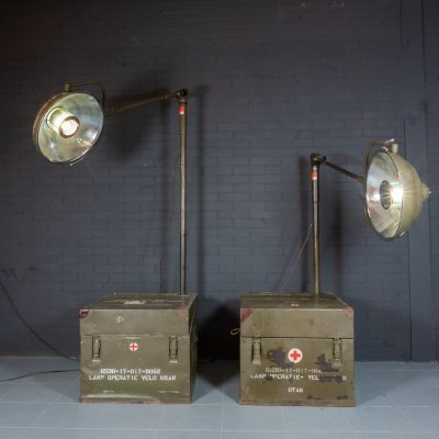 Vintage operating lamp from Dutch field hospital, 1950s
