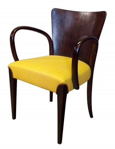 Very Rare Version of the H-214 Dining Chair by Jindrich Halabala for UP Brno