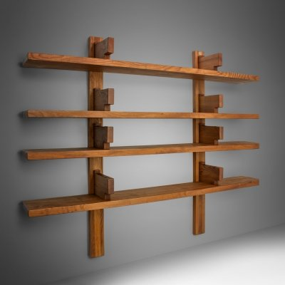 Pierre Chapo 'B17B' Bookshelf in Solid Elm, France 1960s