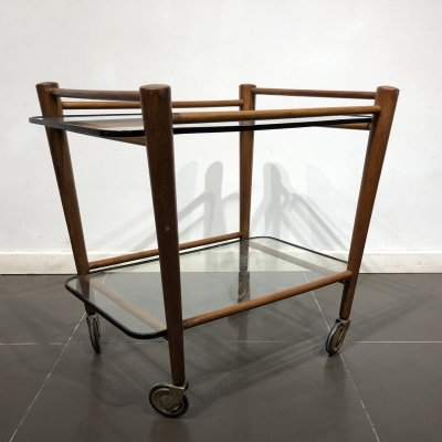 Teak Serving Trolley by Cees Braakman for Pastoe, 1950s