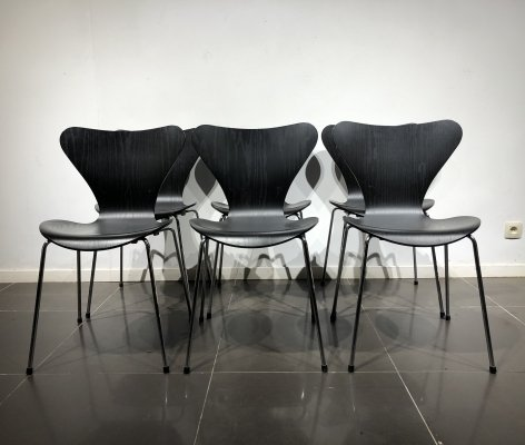 Set of 6 'Series 7' Chairs by Arne Jacobsen for Fritz Hansen, 1990s