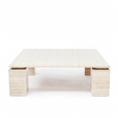 Mid-Century Modern travertine coffee table, 1970s