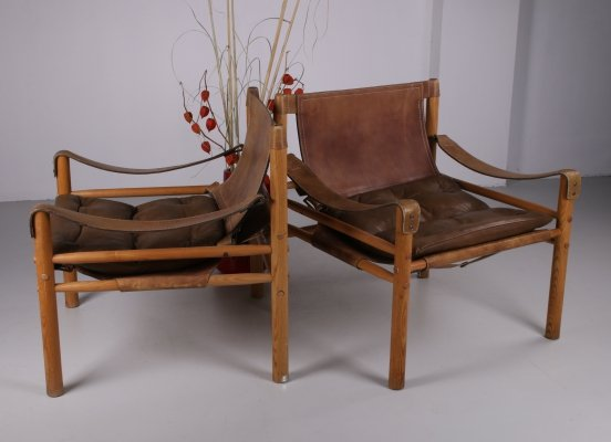 Pair of 'Sirocco' Safari Chairs by Arne Norell, Sweden 1960s