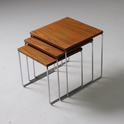 Nesting tables in teak by Brabantia, NL 1960s