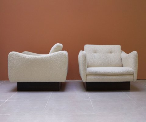 Pair of Teckel lounge chairs by Michel Mortier for Steiner, 1960s
