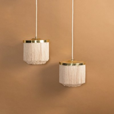 Pair of hanging lamps Model T605 by Hans Agne Jakobsson, 1960s