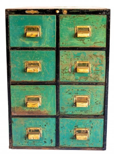 Metal chest of drawers by Roneo Office Furniture, 1931