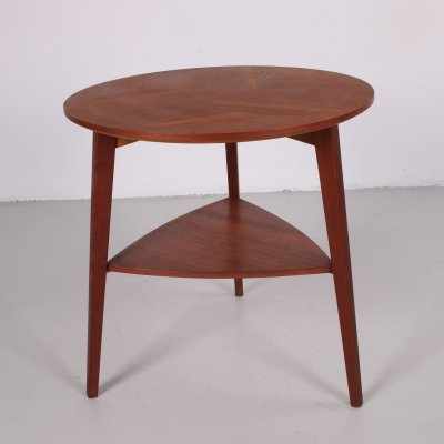 Midcentury Teak End Table by Holger Georg Jensen for Kubus, circa 1960