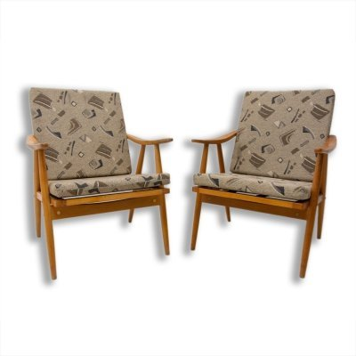 Pair of midcentury armchairs by Jaroslav Šmídek for TON, 1970s