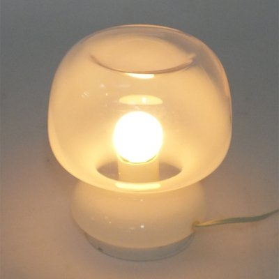 60s table lamp in White to clear Glass