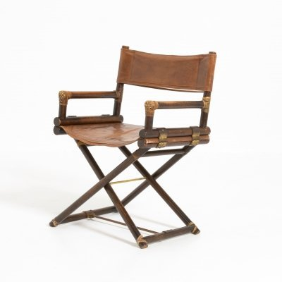 Leather & Brass Director's Chair for McGuire