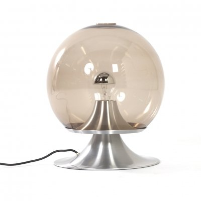 Large Version 'Dream Island' Table Lamp in Smoked Glass by Raak Amsterdam, 1960
