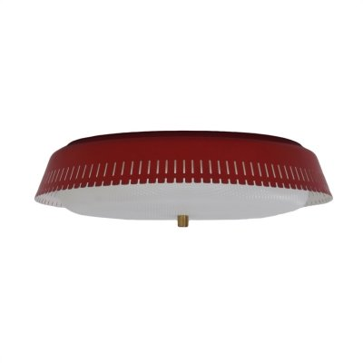 Largest Version Red Bent Karlby Ceiling Lamp for Indoor, 1960s